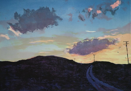 'Indigo Road' by Kate Downie RSA PPSSA