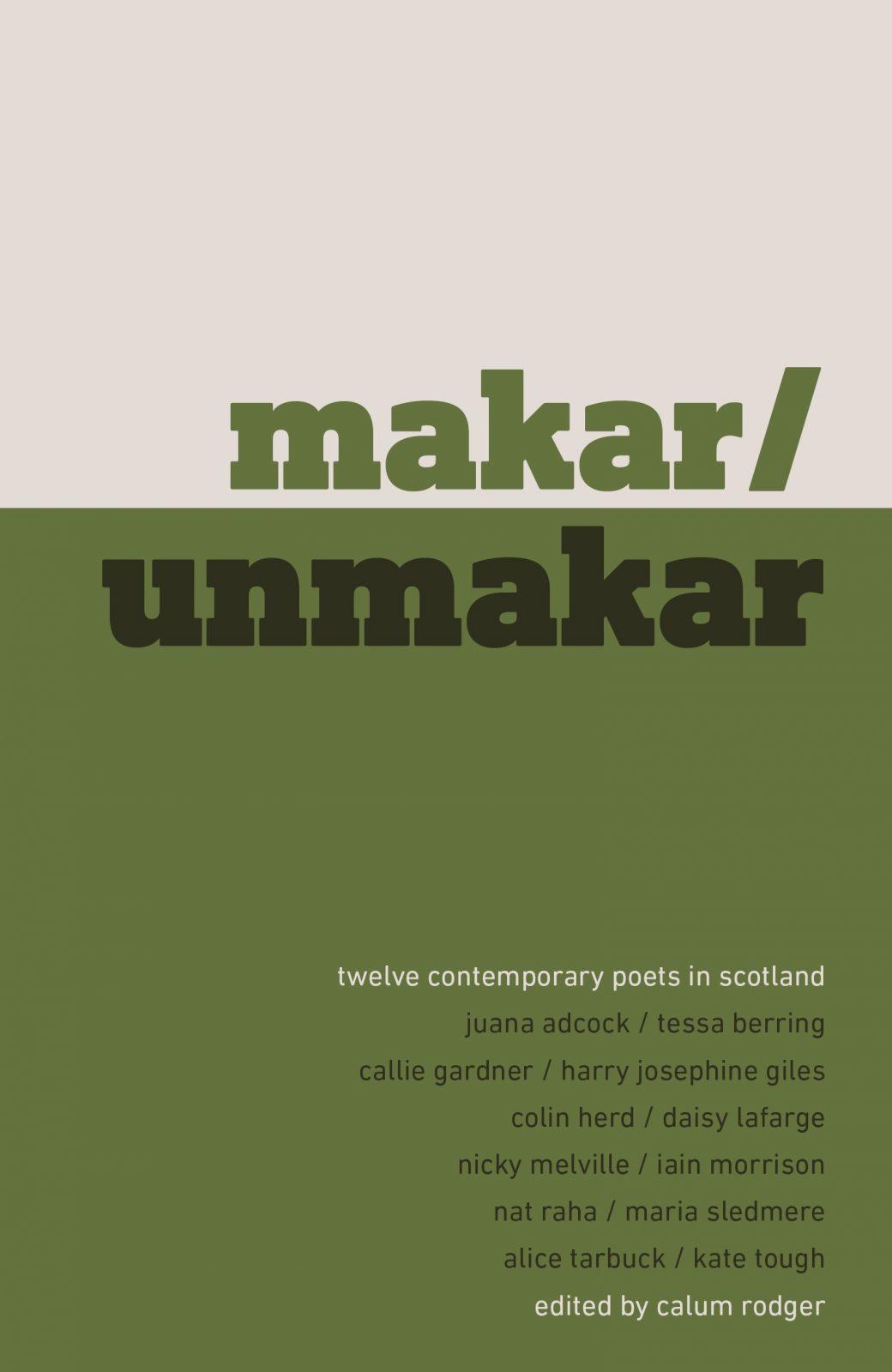 Launch: Makar/Unmakar | Event | Scottish Poetry Library